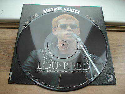 Lou Reed A Rare 1972 Interview PICTURE DISC CLEAR SOUND!! VINTAGE SERIES  UK LP