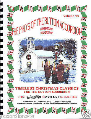 Accordion, Timeless Christmas Carols, For The 1, 2 & 3 Row, Easy Play By Numbers