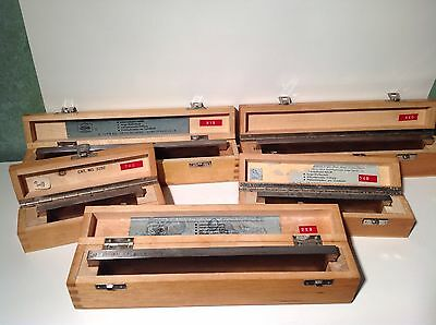 Vintage Original Jung Microtome Knife Blades Lot Of 5 With Boxes