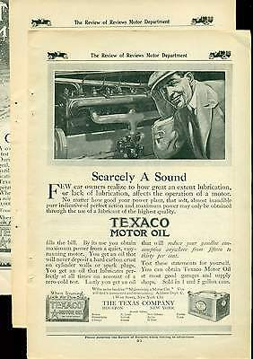 1912 to 1914 LOT TEXACO MOTOR OIL advertising pages
