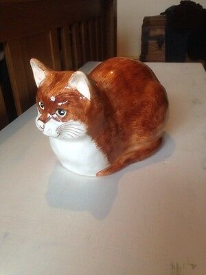 "Babbacombe Ginger Cat 7"" Tall 11"" Long"