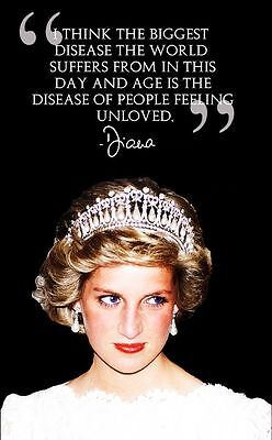 Princess Diana Famous Quote Stunning  Wall Metal Sign Home Decor Gift