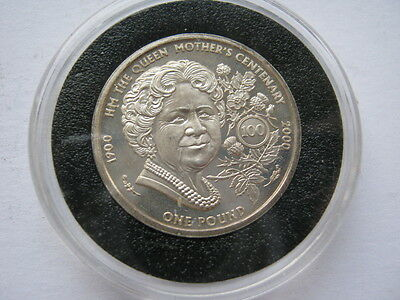 Guernsey 2000 silver proof £1 Queen Mother