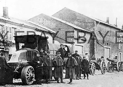 WW1 French Army Latil Heavy Artillery Tractor World War One Photograph