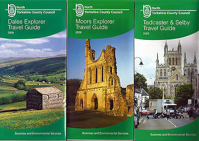 North Yorkshire CC Travel Guide route maps for 2009 (set of three)