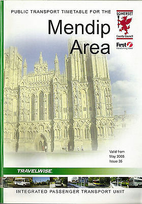 Somerset CC Mendip Area Timetable book - May 2005