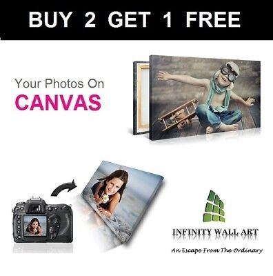 Your Photo Picture on Canvas Print A0 A1 A2 A3 A4 A5 Box Framed Ready to HangiCA