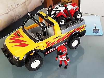 Playmobil Pick-Up mit Racing Quad 4428 + 4229 - A / selten, in gutem Zustand