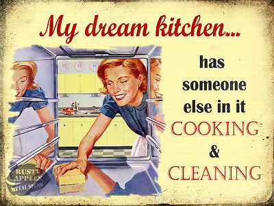 My Dream Kitchen :funny  Vintage Retro Style  Wall Metal Sign Home Decor Gift