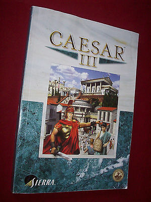 Caesar III Big Box 224-Page Manual ONLY VGC As Seen