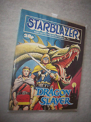 Starblazer 210 Dragon Slayer As Seen VGC SIGNED BY AUTHOR