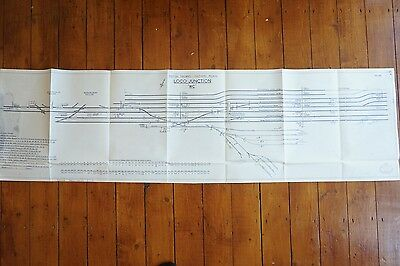 1961 Loco Junction Railway Track Plan 140cm x 38cm