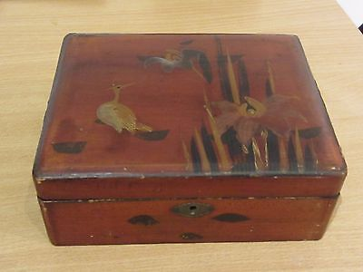 Vintage Chinese wooden laquered box