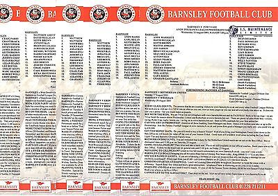 2001-2002 Barnsley Reserves Homes - select the one you want POST FREE