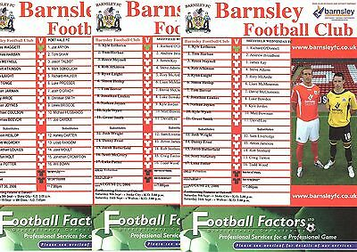 2006-2007 Barnsley Reserves Homes - select the one you want POST FREE
