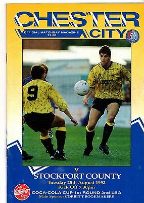 1992-1993 Chester v Stockport County FL Cup