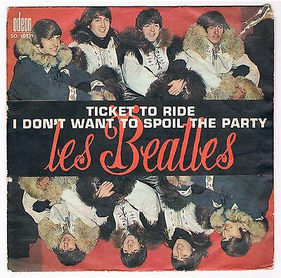 """THE BEATLES Rare PROMO FOR JUKE BOX 7"""" FRANCE 1965 Ticket To Ride ODEON SO 10129"""