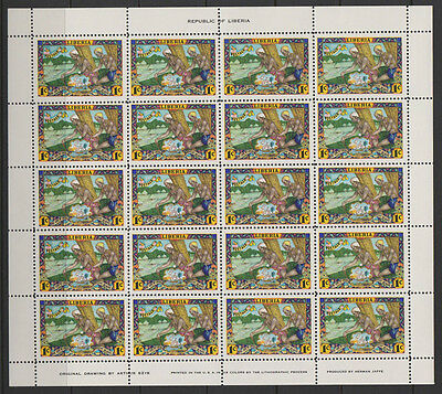Liberia 1949 3 complete sheets of stamps 12&3c SG 702/4 attractive
