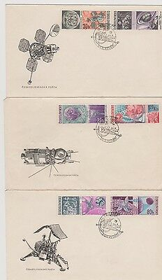 Three attractive covers with space theme - 1969 see scan