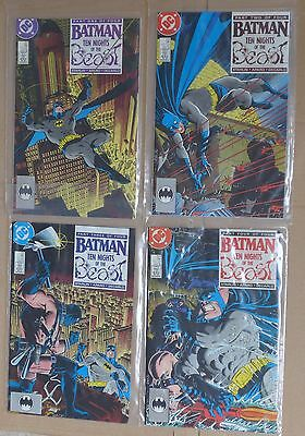 BATMAN Zeck Starlin Aparo Decarlo TEN NIGHTS OF THE BEAST #417 to 420  1stPRINT