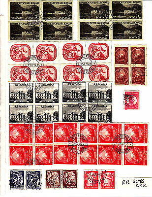 ROMANIA Old Stamps Roumanie R.P.R. blocs divers  Lot R 12
