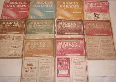 10 x The MODEL RAILWAYS and LOCOMOTIVES - 1911, 1913 and 1914