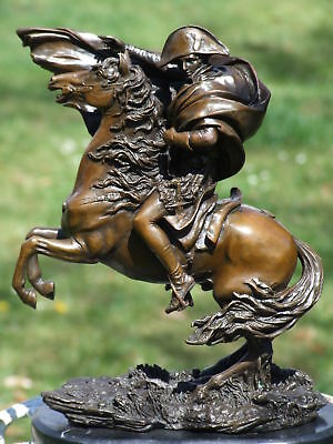 Napoleon Bonaparte Crossing The Alps Pure Bronze Statue