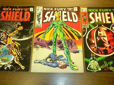 NICK FURY - AGENT OF SHIELD #6,8,10 Marvel Comics 1968-1969 lot