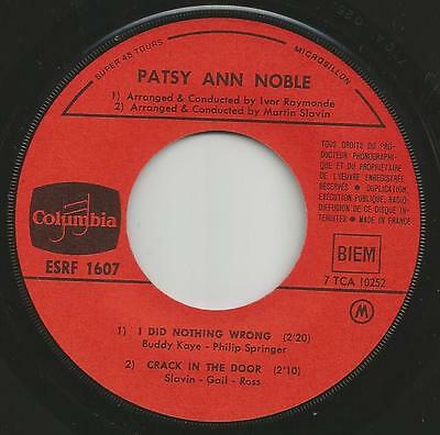 Popcorn Soul Ballade Patsy Ann Noble I Did Nothing Wrong + 3 French Ep + Ps