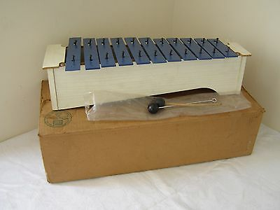 Vintage 1970's Sonor Percussion Metallophone Glockenspiel / Xylophone ~ Boxed