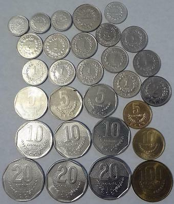 1980-1999 Costa Rica, Lot Of 29 Coins