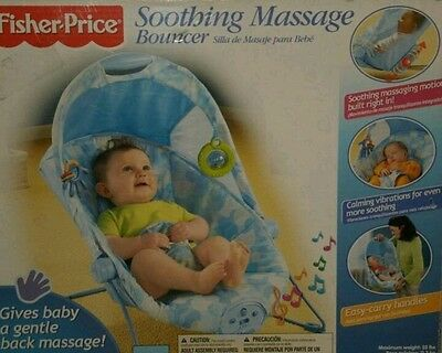 Fisher Price Soothing Massage Bouncer - New - Vibrates - musical