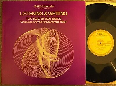 Ted Hughes - Listening & Writing (Uk, 1971, Bbc Records Lp, Ex+ Cond)
