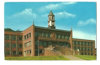 Newcastle-under-Lyme - a photographic postcard of Keele University Library