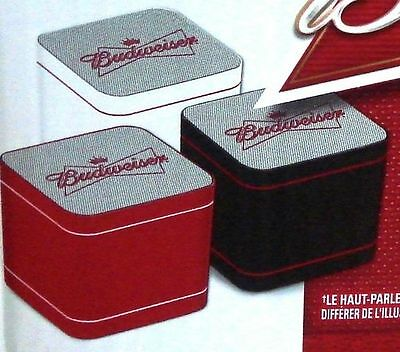 Budweiser Red Or White Mini Bluetooth Connecting Speaker New In Box