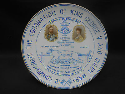 ** KING GEORGE V & QUEEN MARY 1911 Coronation ** Ox Roasting Plate DARLINGTON