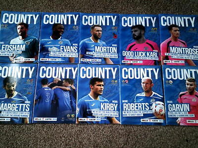 10 STOCKPORT COUNTY Home programmes from 2015/16 season