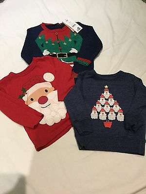 Boys Christmas Jumper/tops Size 2 Years