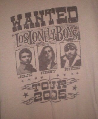 Rare   Wanted Los Lonely Boys Tan 2005 Concert Texas Tour T Shirt Size L