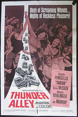 Thunder Alley 1967 Annette Funicello Fabian Original US One Sheet Poster