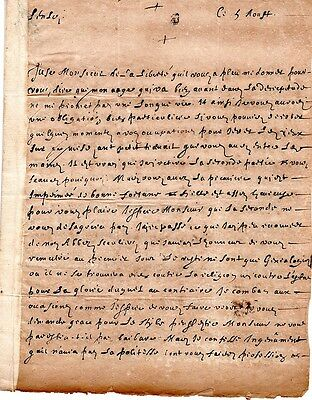 Early manuscript letter, signed, untranslated, in need of further research