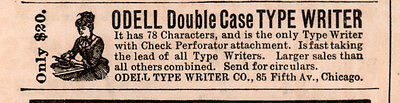 1891 A  Ad Odell Double Case Type Writer