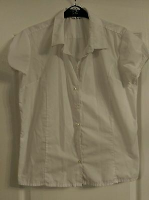 Girls age 16 years white blouse