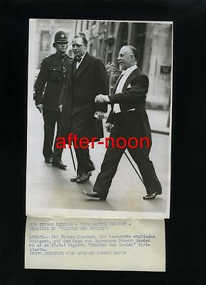 "Vintage SIR THOMAS BEECHAM  ""Tristan And Isolde"" 1930's Press  Photo"