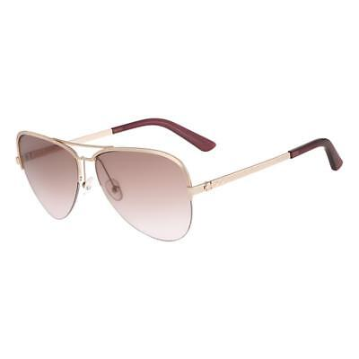 Calvin Klein Collection 1222 Womens Pink Oversized Aviator Sunglasses O/S BHFO