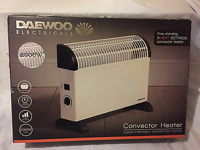 Daewoo Electric 2 KW Convector Heater - Wall Mounted Or Free Standing. New.