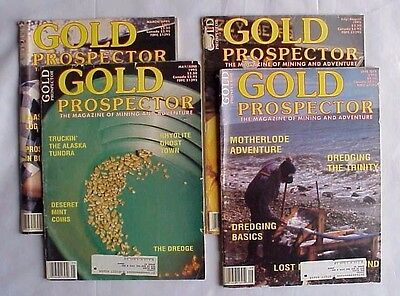 1995 Issue Lot Of 4 Gold Prospector Magazine
