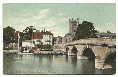 [0482] Oxfordshire Colored Postcard The Bridge And Church Henley-On-Thames