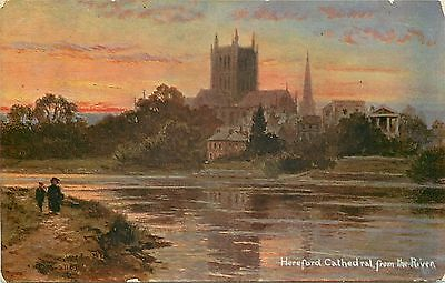 s10400 Cathedral, Hereford, Herefordshire, England postcard unposted