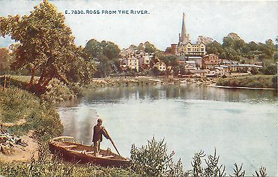 s10402 River Wye, Ross-on-Wye, Herefordshire, England postcard unposted